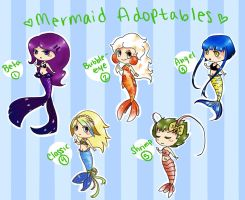 Mermaid adoptables? by FawkesFyre