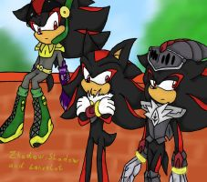 Zhadow, Shadow and Lancelot... by Larka-Lover