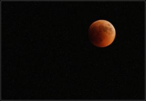 moon eclipse by Kanashii-Hito