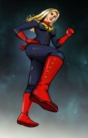 Captain Marvel by albonia