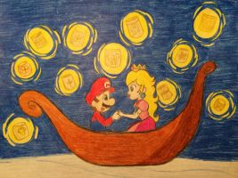 Mario and Peach: I See the Light by candycorporation
