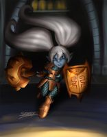 League of Legends - Poppy the Iron Ambassador by Silverhyren