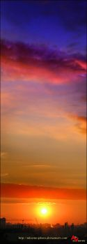 Vertical sunset by ukraine-photo