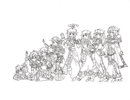 A Very Extended Family-lines by aoichan1