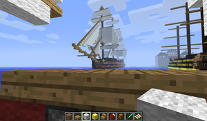 Minecraft ship of the line #3 by AndrewMcCory