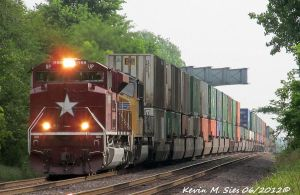 The Katy Unit UP 1988 leads KOAMN 12 into Dupo IL by EternalFlame1891