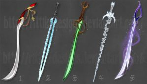 Swords adopts 6 (CLOSED) by Rittik-Designs