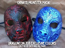 Ornate Mask Dragon Con  Colors by missmonster
