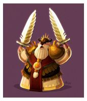 daily hero - Holy Dwarf by shoze
