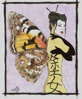 Painted Lady by LuthienNightwolf