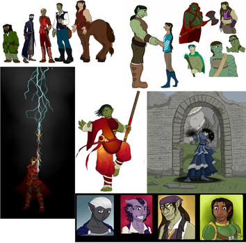 Tumblr roundup 6- Dungeons and Dragons characters by Phosphorescence7991