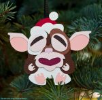 Tiki Gizmo Ornament aka The Maori Mogwai by WonderDookie