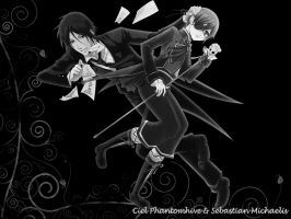 Sebastian and Ciel by LoveCielPhantomhive