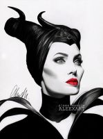 Maleficent - Angelina Jolie by aleexart