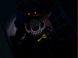 Right Peek Upclose Nightmare Shadow Freddy 3d by Cosmicmoonshine