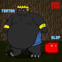 Tortak the Endermen and Glop the Slime by DragonDoctor
