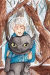 Jack Frost and Toothless by neko-loverx3