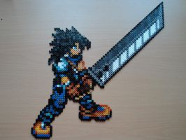 Zack Fair Attack Hama Sprite by rinoaff10