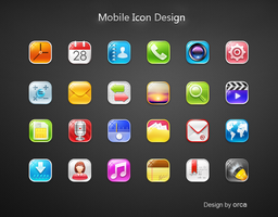 Mobile Icons by OrcaLuo