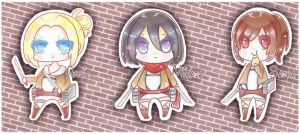SnK Chibi girls by HotaruAyanami