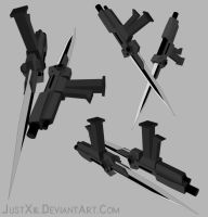 RWBY Weapon - Pistol/Bladed Tonfa by JustXiil