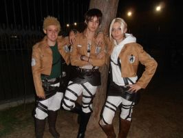 Shingeki no kyogin team!!! by IGrayI