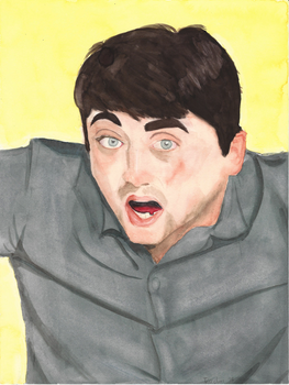 HPG Jared watercolor portrait by JusticeDude