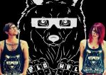 Wolf Singlet by elohelclothing