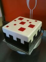 Minecraft Cake Cake by Spudnuts