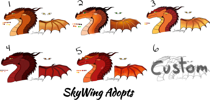 SkyWing Adopts Batch 1 [OPEN, lower prices!] by ForbiddenDreaming