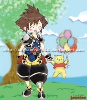 Sora and Pooh by AnimeLover536