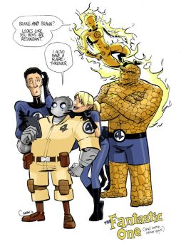 Fantastic Four plus One by caanantheartboy