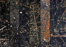 Black Scratched Metal Textures by sdwhaven