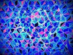 digital blue flower of life by santosam81