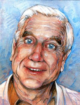 Leslie Nielsen by Randommonkies