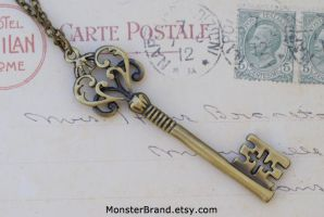 Victorian Key Necklace by MonsterBrandCrafts