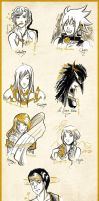 Free brushes sketches - Team Gold by Mahogany-Fay