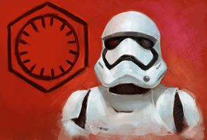First Order Stormtrooper by clc1997