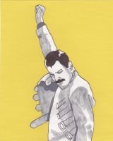 Freddie Mercury by DeadWoodPete83