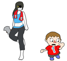 Wii Fit Trainer and Villager Body Swap by thepontusandersson