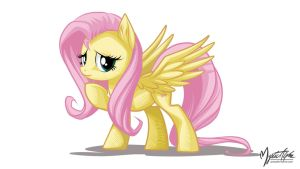 Fluttershy Pose 16:9 by mysticalpha