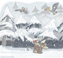 DK and Diddy in the mountains by kjsteroids