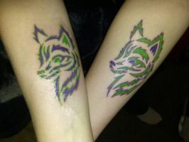 Mother/daughter tattoos by Mighty-C-amurai