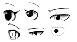 Anime eyes examples by Ask-DeathPrincess