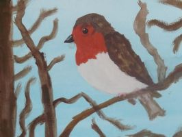 robin painting by kk20152d
