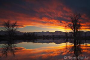 Sierra Reflection Sunset by narmansk8