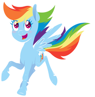 Happy Rainbow Horse by scienceisanart
