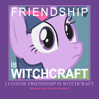 Friendship is Witchcraft Demotivational by SEGASister