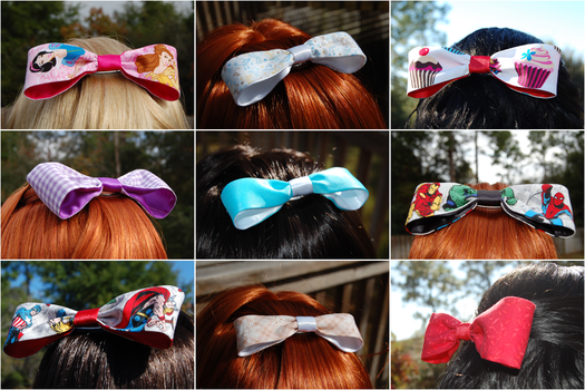 Twinklebat Boutique Hair Bows by vampirate777