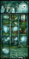 Fairy Glow backgrounds by moonchild-ljilja